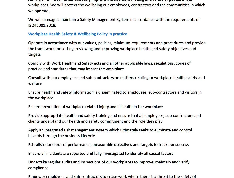 AMH-POL-WHS Workplace Health Safety Poli