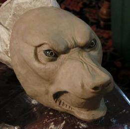 Werewolf mask sculpt