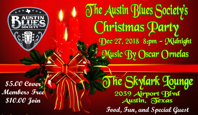 Austin Blues Society Christmas Party!