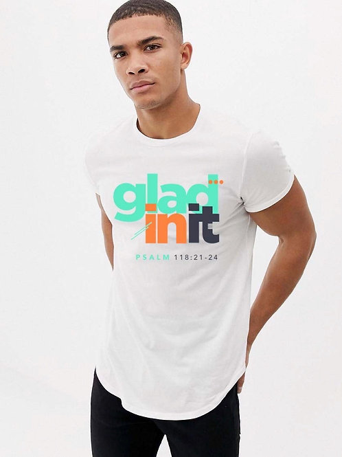 """Glad in It"" Longline Tee (Male)"