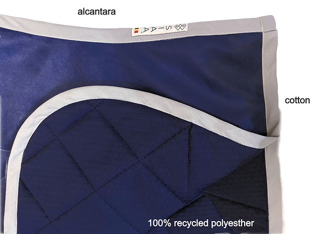Horse saddle pad in alcantara and recycled polyester
