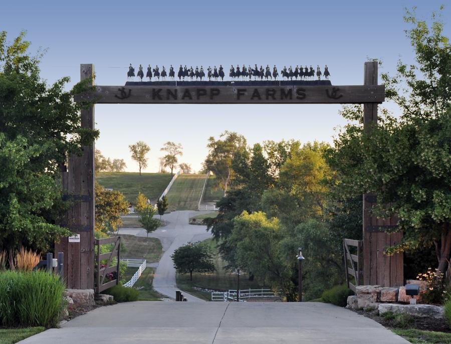 Knapp Quarter Horse Farms entry gate
