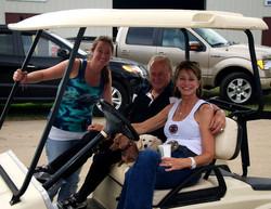 Bill, Susan, Sara, and the doggies!