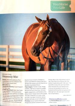Heavenly Mac - Horse & Rider Mag.