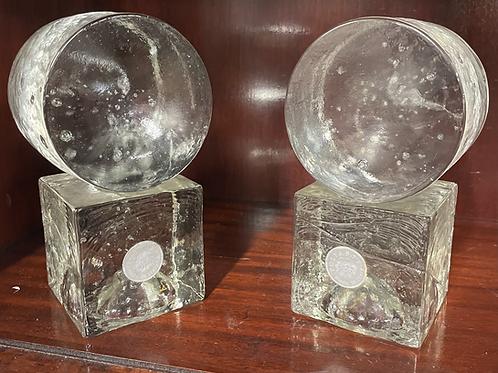 Poliarte Italian Murano Glass Bookends