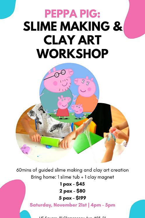 Peppa Pig: Slime Making & Clay Art Workshop