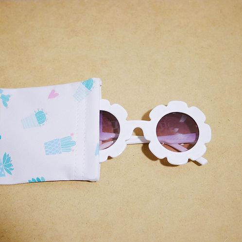Flower Sunglass in White