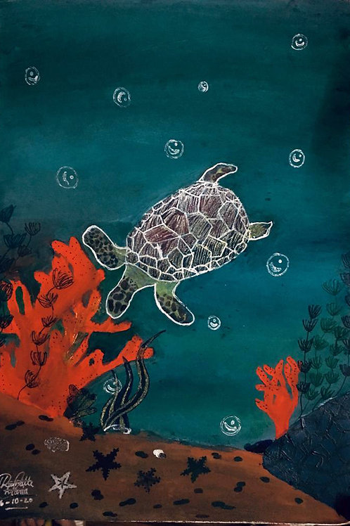 """""""Endangered Sea Turtle"""" by Lauralle"""