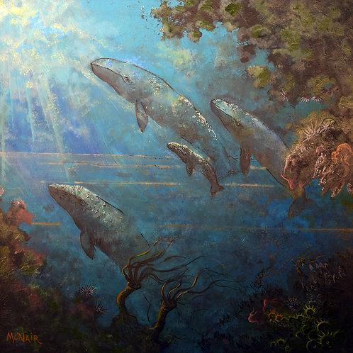 """""""Four Whales Ascend"""" by George McNair"""