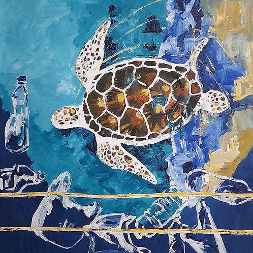 """Green Sea Turtle"" by  Smriti Gargava"
