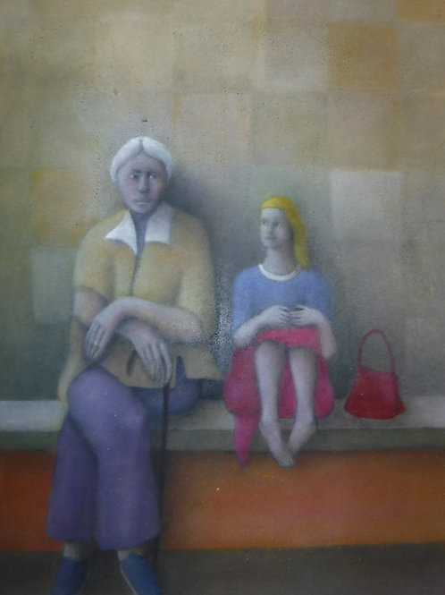 """Grandmother and Granddaughter"" by Alfredo DeCurtis"