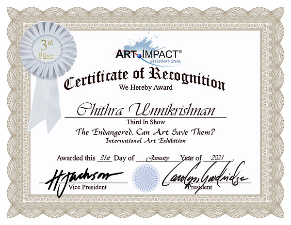 Chithra Unnikrishnan-Certificate-of-Reco