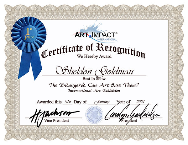 Sheldon Goldman-Certificate-of-Recogniti
