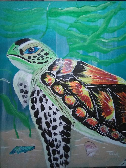 """Stella The Sea Turtle"" by  Tera N. Martinez"