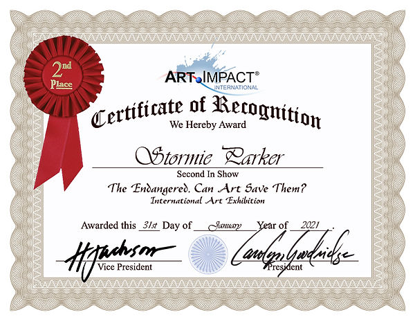 Stormie Parker-Certificate-of-Recognitio