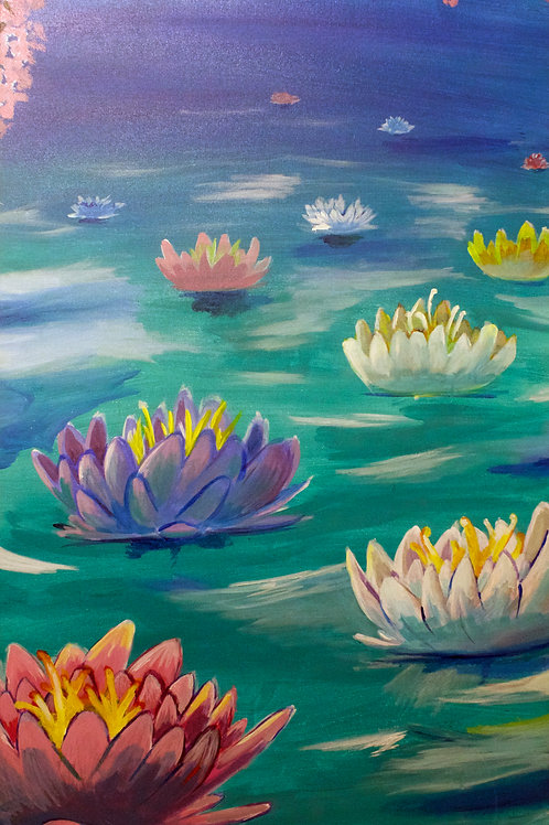 """""""Lotus Pond"""" by Gerald L. Fauntroy"""