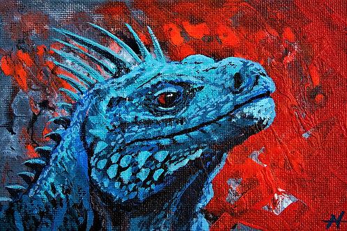"""Blue Iguana"" by Noah Hartley"