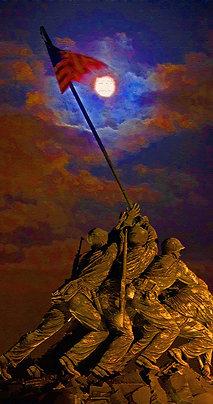 Iwo Jima Under the Blood Moon