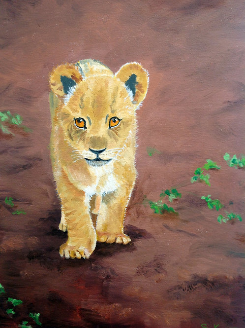 """Paddy The Lion Cub"" by Sharon Kvist"
