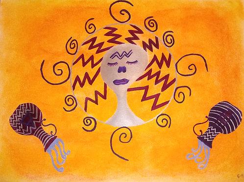 """""""Aquarius Sun"""" by Evy Wilkins"""