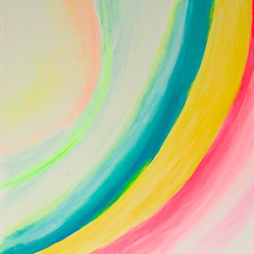 """""""Rainbow Stem of a Multidimensional Flower"""" by Nina Soyfer"""
