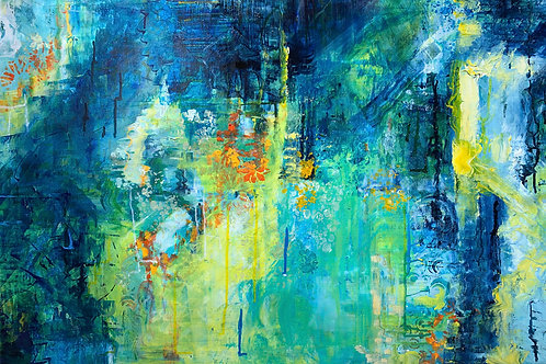 """Waters Reflection Abstraction"" by Erin Starr"