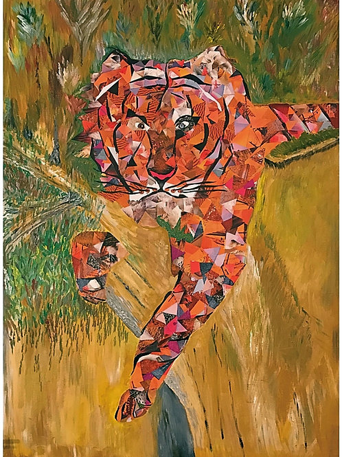 """Tiger II Montage"" by Wanda L Spence"
