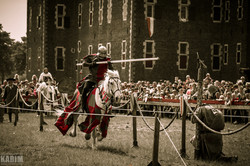 De rode ridder in actie