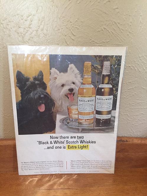 Black and White magazine ad