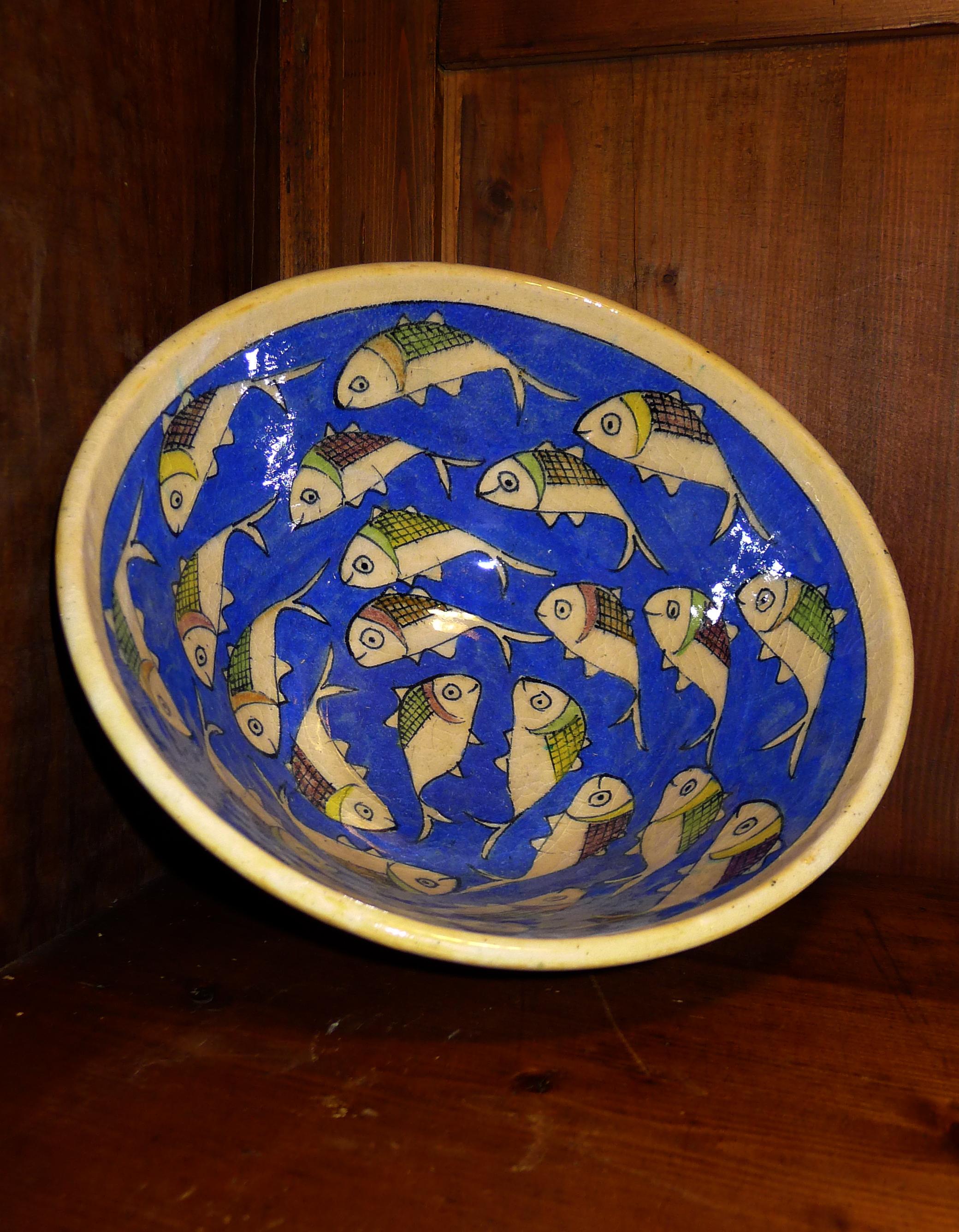 La vasque bleues aux poissons