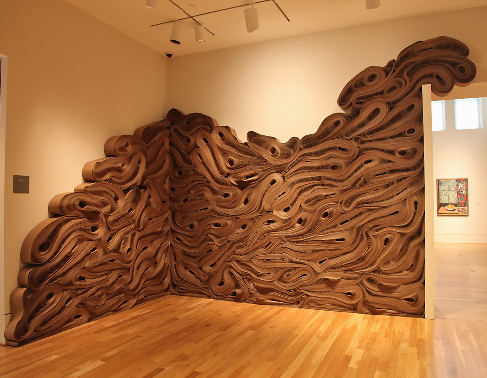 jae ko. force of nature. recycled paper. installation. dimensions variable. rolled paper.