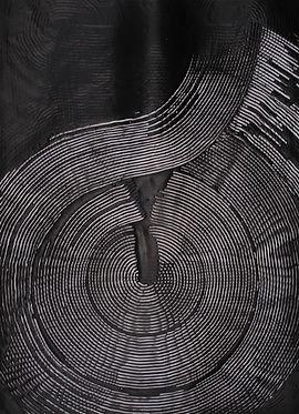 jae ko. art. black and white. ink. glue. ink and glue. black and white.