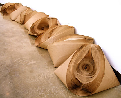 jae ko. installations. recycled paper. rolled paper. force of nature.