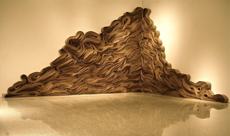 force of nature. jae ko. recycled paper. rolled paper. installation.