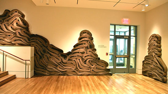jae ko. force of nature. recycled paper. installation. rolled paper. dimensions variable.