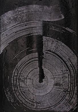 jae ko. ink. drawing. glue. ink and glue. art. black and white.