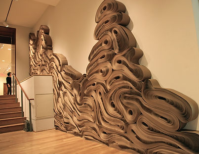 jae ko. force of nature. rolled paper. recycled paper. installation dimensions variable.