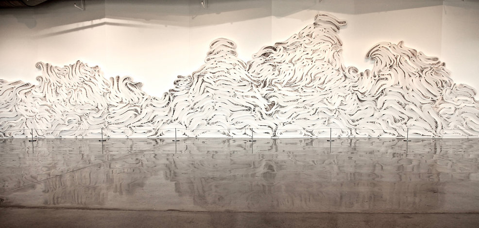jae ko. force of nature shiro. recycled paper. installation view.