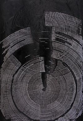 jae ko. ink and glue. drawing. art. ink. glue. black and white.