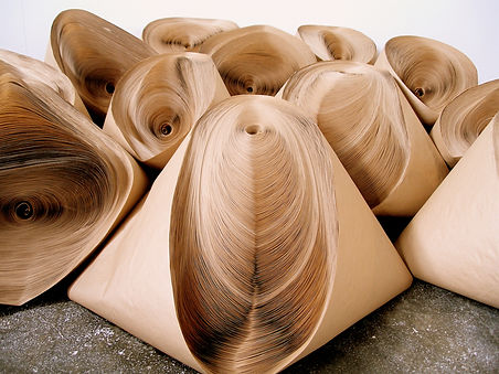 jae ko. force of nature. recycled paper. rolled paper. installation.