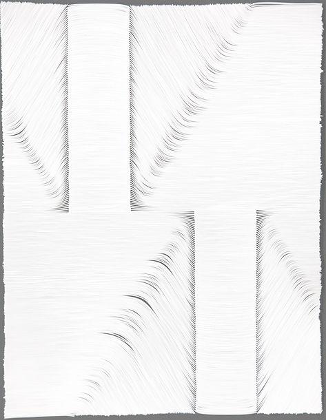 jae ko. vinyl cord drawing. vinyl cord. white. art.