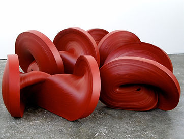 jae ko. rolled paper. colored caligraphy ink. installations. sculpture. wall mounted sculpture.