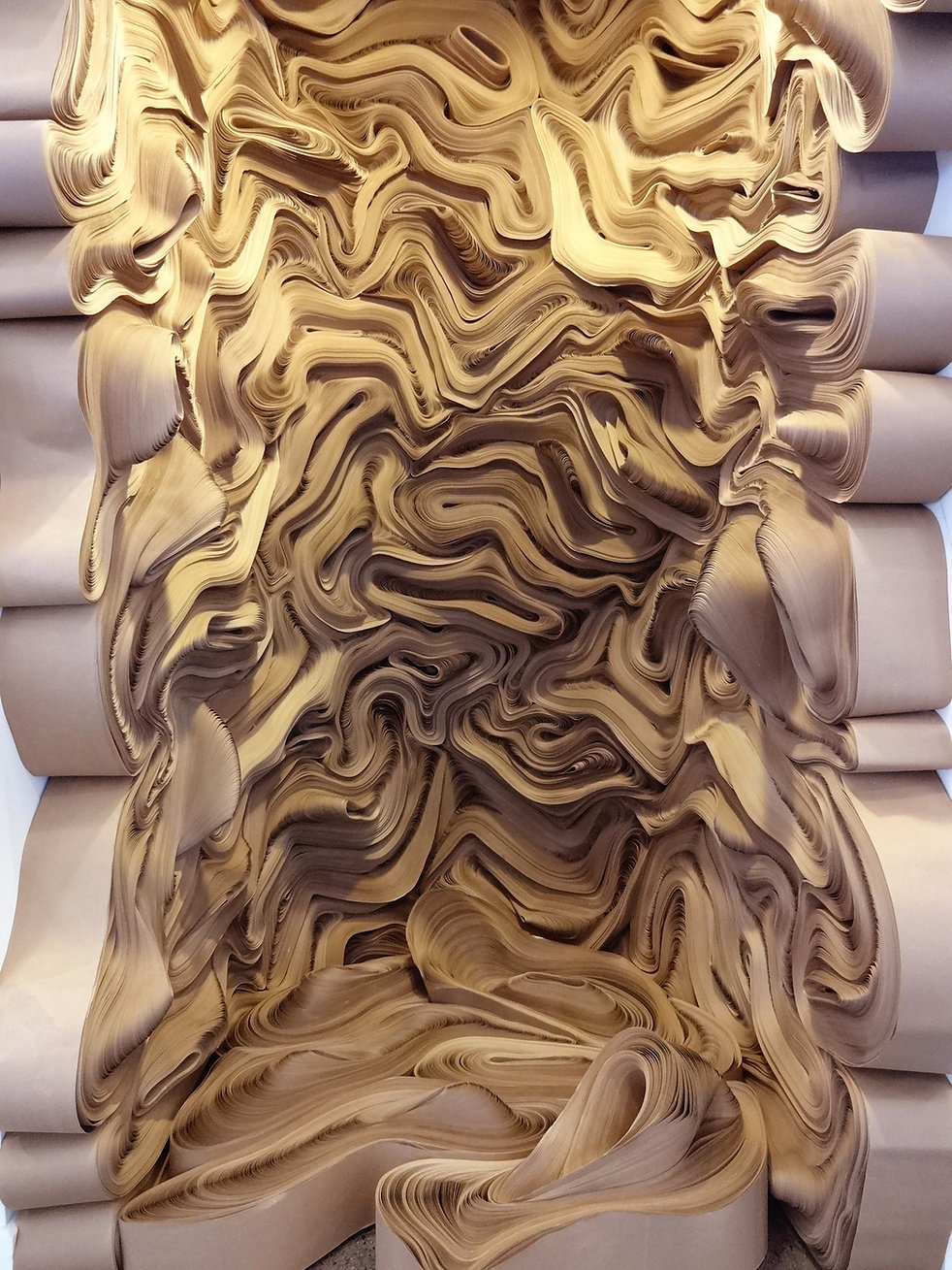 jae ko. force of nature escalante. rolled paper. recycled paper. detail.