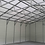 Thumbnail: 28x45x12 White Vertical Roof Style Garage