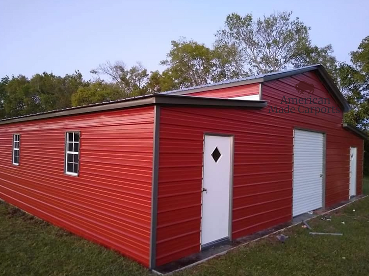 46x30x11/8 Crimson Red Step-Down Barn