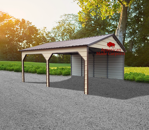 18x20x9 Earth Brown Vertical Roof Carport