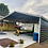 Thumbnail: 24x20x9 Black Vertical Roof Carport