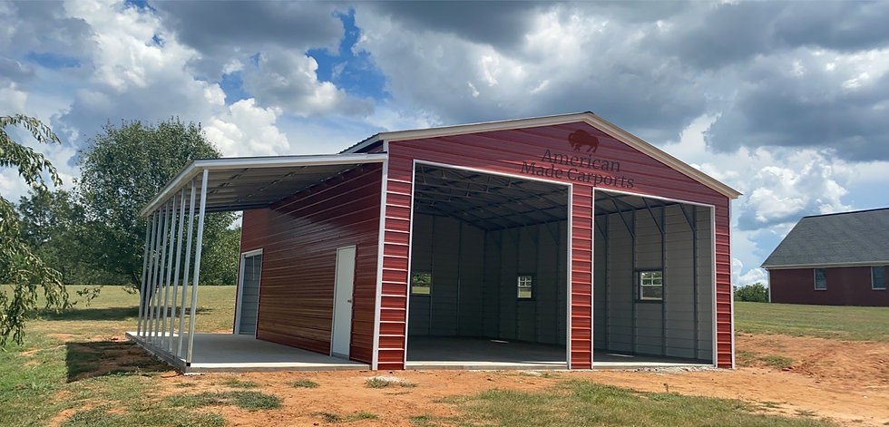 30x50x13 Vertical Roof Red Barn