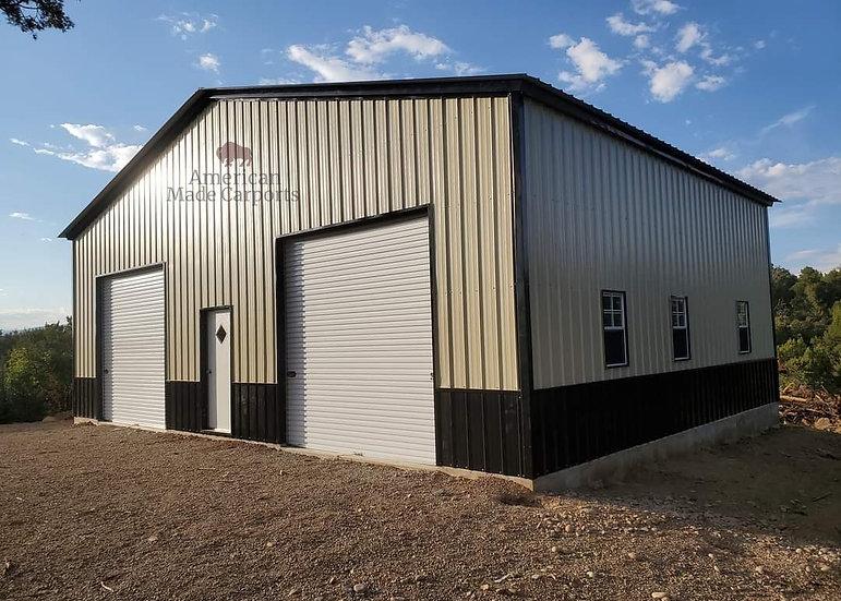 40x30x16 Commercial Grade Vertical Black Roof
