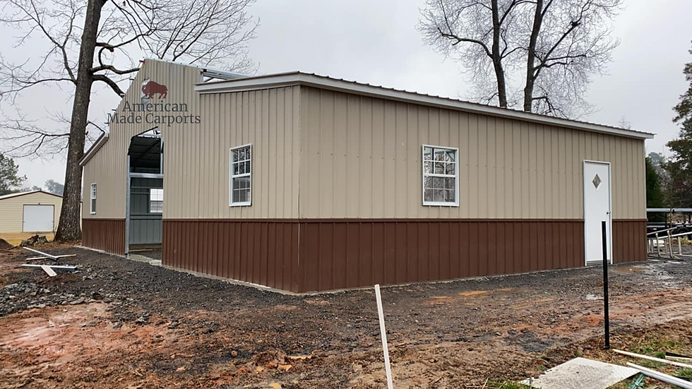 48x30x12/9 All Vertical TwoTone Deluxe Barn